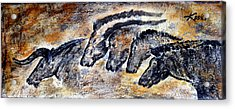 Chauvet Cave Auroch And Horses Acrylic Print