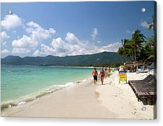 Chaweng Beach And The Gulf Of Thailand Acrylic Print