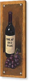 Cheap Red Wine Acrylic Print by Terri  Meyer