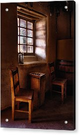 Checkers At Bent's Old Fort Acrylic Print by Priscilla Burgers