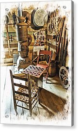 Checkers At The General Store Acrylic Print by Kenny Francis