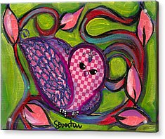 Checkers Birdy Acrylic Print