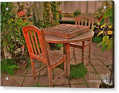 Checkers Acrylic Print by Kathleen Struckle