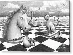 Acrylic Print featuring the painting Checkmate by Denise M Cassano