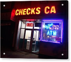 Checks Ca In Nyc Acrylic Print