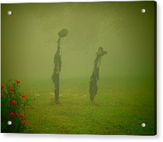 Cheer Up It'll Get Better Sunflower Pod People Acrylic Print