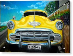 Cheerful Chevy Acrylic Print
