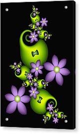 Acrylic Print featuring the digital art Cheerful by Gabiw Art
