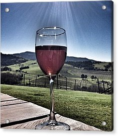 Cheers! #rose #wine #sunshine #country Acrylic Print