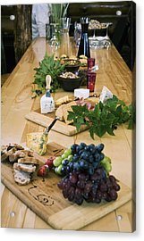 Cheese, Bread And Fruit Hors Doervres Acrylic Print