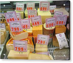 Cheese Display Acrylic Print by James B Toy