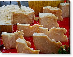 Cheese For Sale At Weekly Market Acrylic Print by Panoramic Images