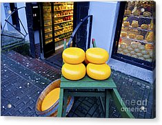 Cheese Acrylic Print by Pravine Chester