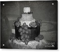 Cheesey Wedding Cake Acrylic Print by Michelle Orai