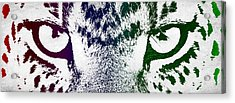 Cheetah Eyes Acrylic Print by Aged Pixel