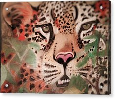 Cheetah In The Grass Acrylic Print