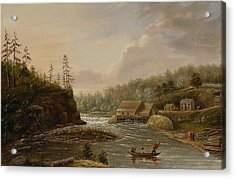 Cheevers Mill On The St. Croix River Acrylic Print by Henry Lewis