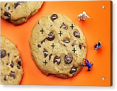 Acrylic Print featuring the photograph Chef Depicting Thomson Atomic Model By Cookies Food Physics by Paul Ge