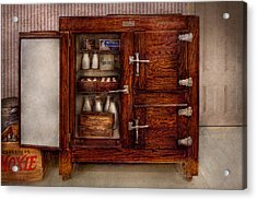 Chef - Fridge - The Ice Chest  Acrylic Print by Mike Savad