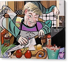 Chef With Heart Acrylic Print by Anthony Falbo