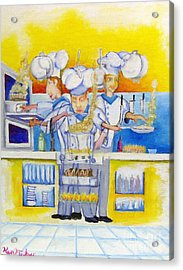 Chef's Kitchen Acrylic Print by Kenneth Michur