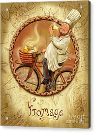 Chefs On Bikes-fromage Acrylic Print
