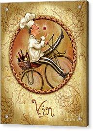 Chefs On Bikes-vin Acrylic Print