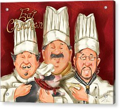 Chefs Say Eat Chicken Acrylic Print by Shari Warren