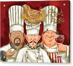 Chefs With Fresh Eggs Acrylic Print
