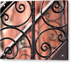 Chelsea Wrought Iron Abstract Acrylic Print by Rona Black