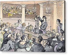 Chemical Lectures Acrylic Print by Thomas Rowlandson