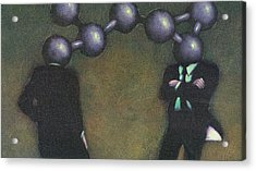 Chemically Bonded Businessmen Acrylic Print by Tim Teebken