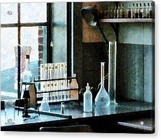 Chemist - Glassware In Lab Acrylic Print by Susan Savad