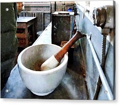 Chemist - Mortar And Pestle In Lab Acrylic Print by Susan Savad