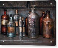 Chemist - Things That Burn Acrylic Print by Mike Savad