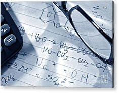 Chemistry Formulas Acrylic Print