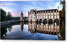 Chenonceau Castle In The Evening Acrylic Print