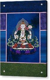 Chenrezig Acrylic Print by Leslie Rinchen-Wongmo