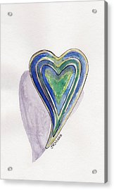 Cherished Heart Acrylic Print by Julie Maas