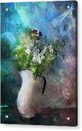 Cherished Rose From Summer Acrylic Print by Georgiana Romanovna