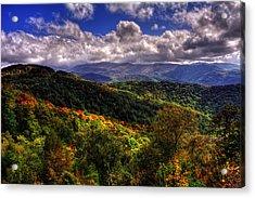 Cherohala Skyway Brushy Ridge Overlook Acrylic Print