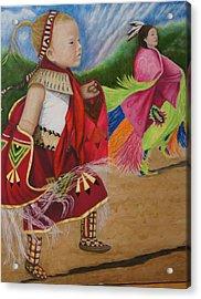 Cherokee Ribbon Dancers Acrylic Print