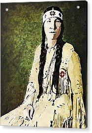 Acrylic Print featuring the digital art Cherokee Woman by Lianne Schneider