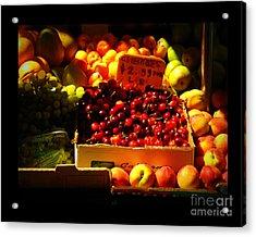 Cherries 299 A Pound Acrylic Print by Miriam Danar