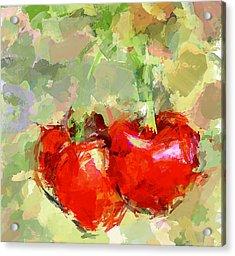 Cherries Abstract Acrylic Print by Yury Malkov