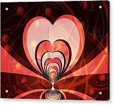 Cherries And Hearts Acrylic Print by Anastasiya Malakhova