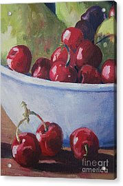 Cherries Acrylic Print by John Clark