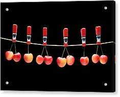 Acrylic Print featuring the photograph Cherries by Krasimir Tolev