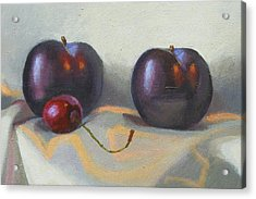 Cherry And Plums Acrylic Print by Peter Orrock