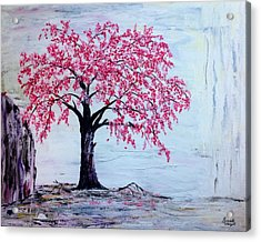 Acrylic Print featuring the painting Cherry Blossom  by Renate Voigt